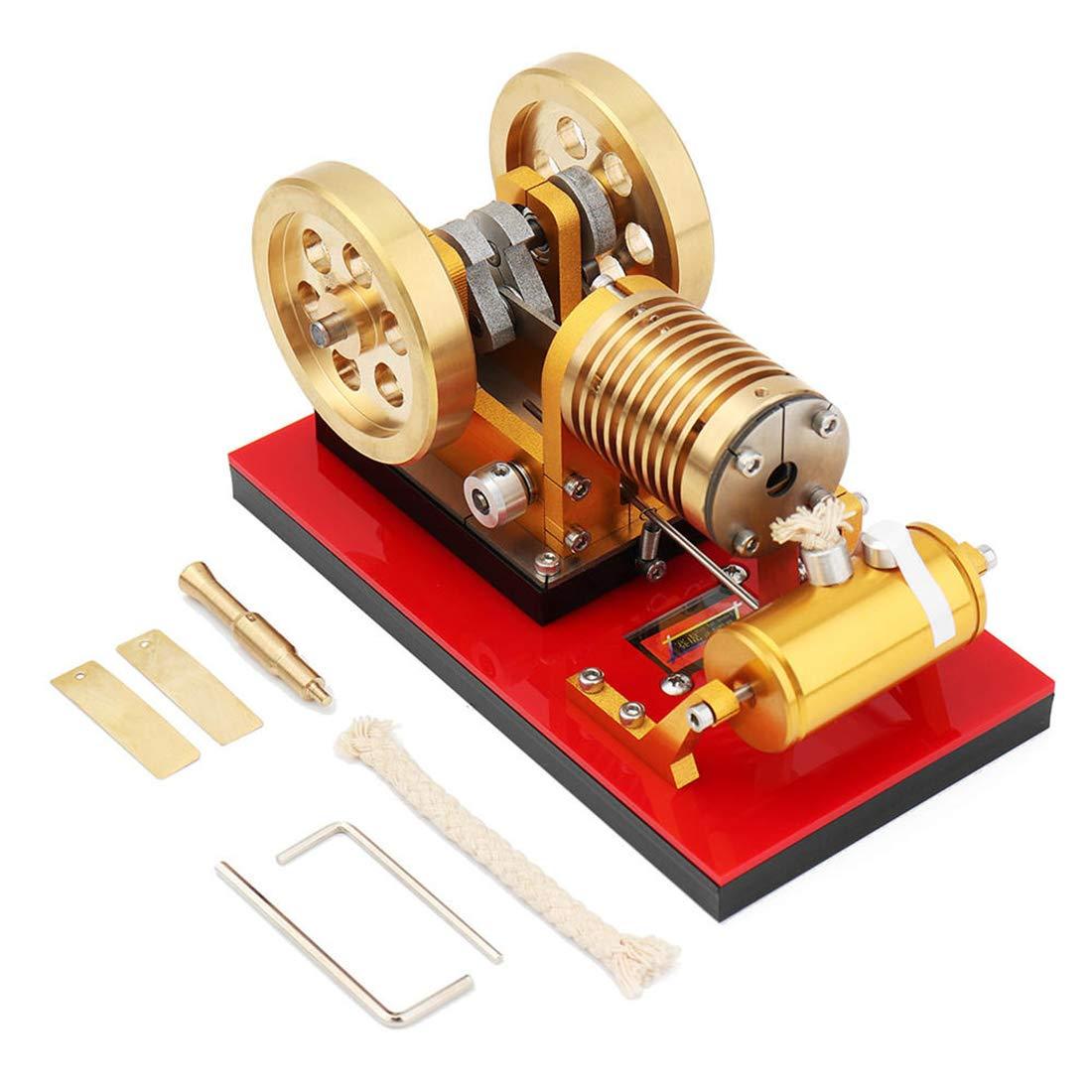 MRKE Motor Stirling Generador Cilindro de Aire de Cobre DIY Stem Air Steam Stirling Engine Model Kit Física Ciencia Experimentar Enseñanza Juguete y Regalo: ...
