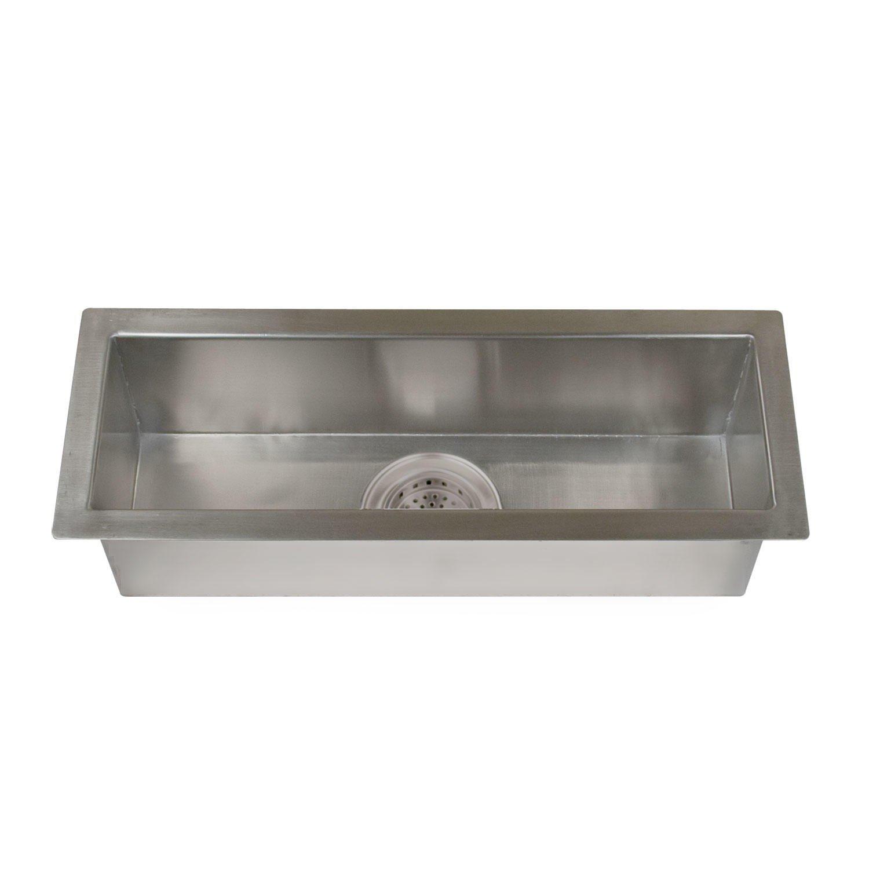 Naiture 23''Stainless Steel Excutive Zero-Radius Trough Sink