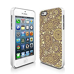 Paisley Lime Apple iPhone 5 5S White Cell Phone Case