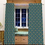 Best Eclipse Home Fashion Thermal Insulated Blackout Curtains Royal Blues - Printed Blackout Curtains Grommet Thermal for Small Windows Review