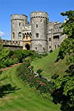 OFILA Windsor Castle Backdrop 5x6.5ft Photography Background Old Castle Royal Palace Britain's Stone Wall Valley Wedding Bride Portraits Princess Shoot Travel Themed Party Decoration Video Studio Prop