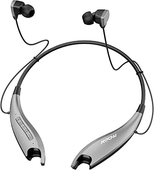 Amazon Com Mpow Jaws Gen5 Bluetooth Headphones 18h Playtime For Work From Home V5 0 Wireless Neckband Headphones Online Teaching Conference Bluetooth Headset Call Vibrate Cvc6 0 Noise Cancelling Mic Gray