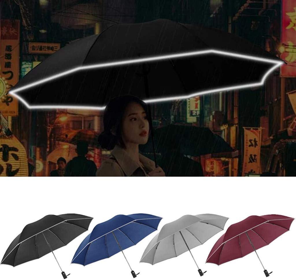 MinYuocom Light Portable Windproof Reflective Tape Automatic Pocket Umbrella