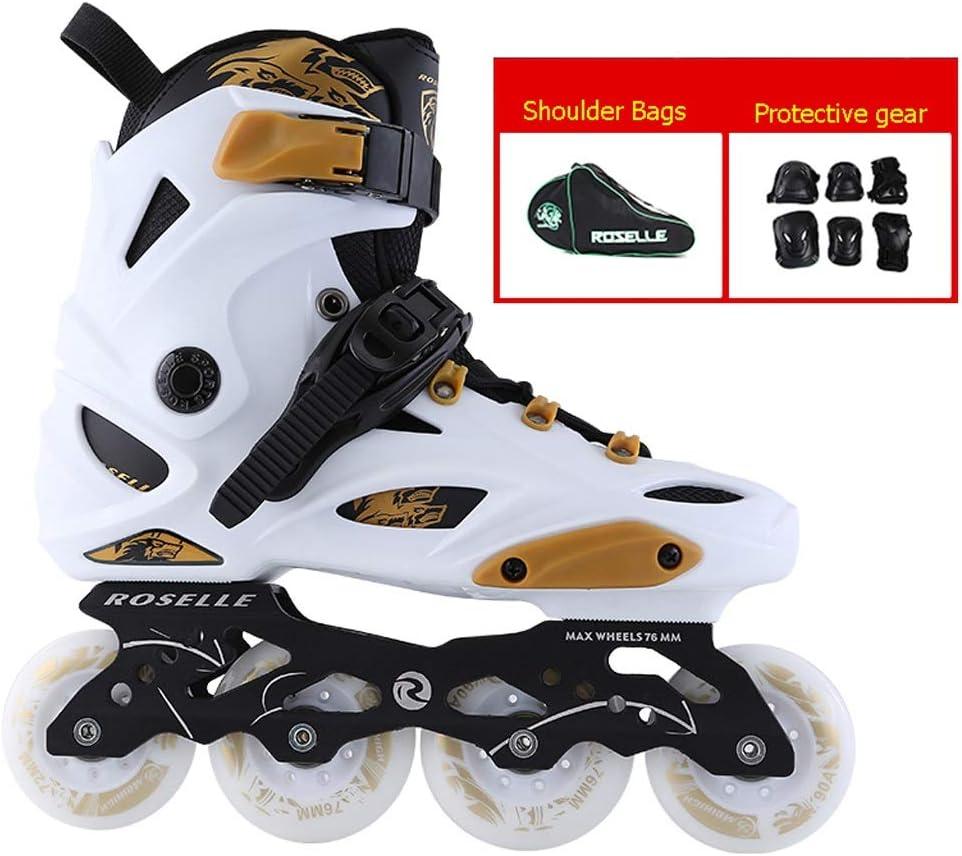 インラインスケート プロの大人向けインラインスケート靴、初心者用スケート靴、快適で インラインスケート靴(白) (色 : E, サイズ さいず : EU 35/US 4/UK 3/JP 22.5cm) E EU 35/US 4/UK 3/JP 22.5cm