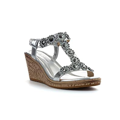 Lilley & Skinner Flaches Sandale im Silbernen Leder für Frauen Größe 38 - Mehrfarbig 5xnYm3LgX
