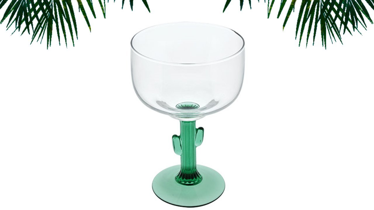 TopNotch Outlet Margarita Glass – Cactus Margarita Glasses – Go South of The Border with These Two 16oz Margaritavilles – Thick Margarita Glasses – Fun Drinking Glasses
