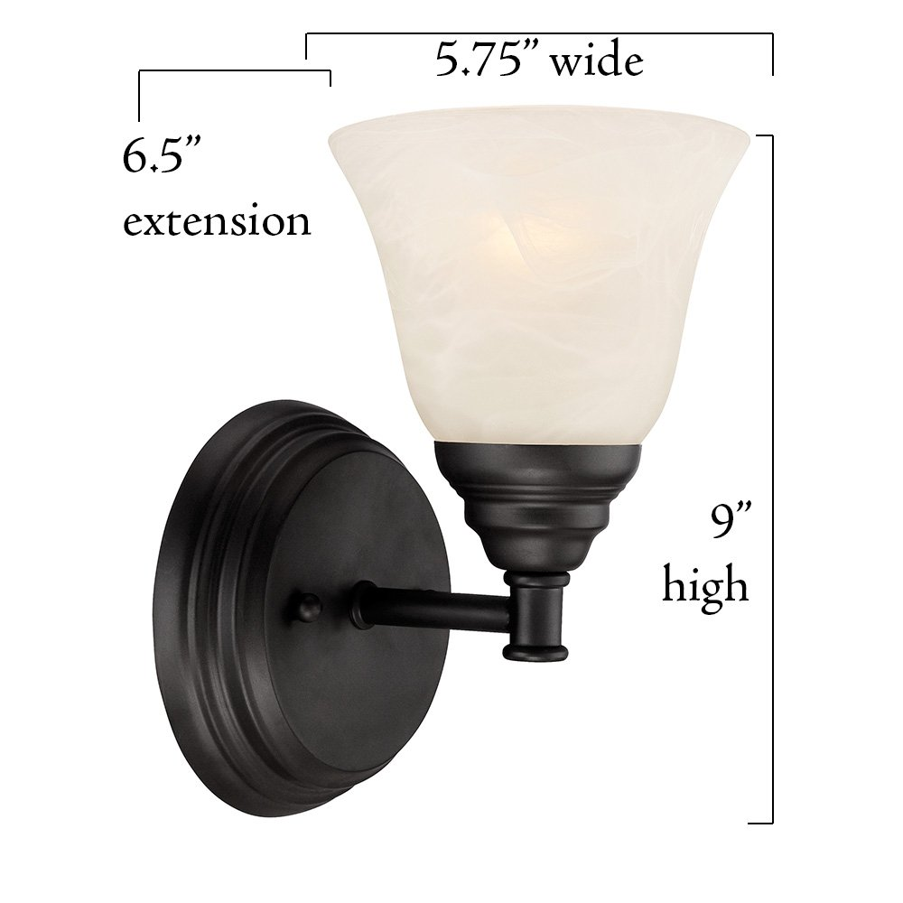 Designers Fountain 85101-ORB Kendall Wall Sconce, Oil Rubbed Bronze by Designers Fountain (Image #4)