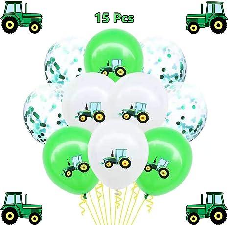 Amazon.com: 15 globos de cumpleaños con diseño de tractor ...