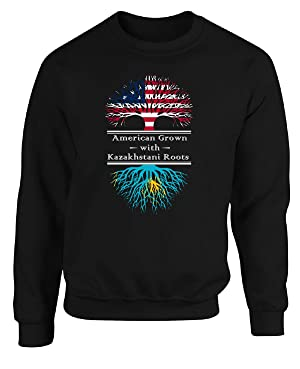 American Grown With Kazakhstani Roots Kazakhstan Great Gifts - Adult Sweatshirt