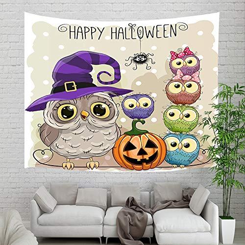 NYMB Halloween Owl Pumpkin Wallpaper Tapestry Wall Hanging,