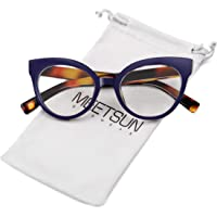 MEETSUN Womens Cat Eye Glasses Frame Fashion Designer Non Prescription eyeglasses With Clear Lens for ladies