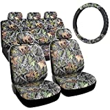 camouflage seat covers for trucks - Hawg Camo Seat Covers Forest Pattern Camouflage Cushion Grip Steering Wheel Cover Set for Auto Truck Car SUV