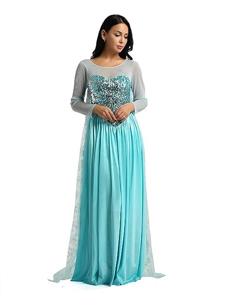 iixpin Disfraz de Princesa Mujer Vestido Largo Elegante ...