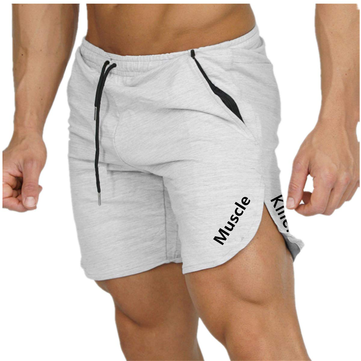 Muscle Killer Mens Bodybuilding Lifting Gym Workout Sweat Shorts