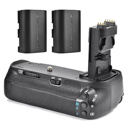 Meike - mk-70d Kit de empuñadura de batería para Canon EOS 70d ...