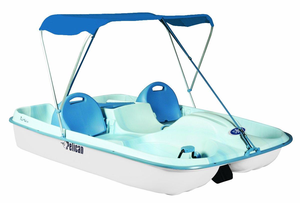 Amazon.com  Pelican Rainbow Deluxe Pedal Boat Fade Blue/White  Pelican Paddle Boats  Sports u0026 Outdoors  sc 1 st  Amazon.com & Amazon.com : Pelican Rainbow Deluxe Pedal Boat Fade Blue/White ...