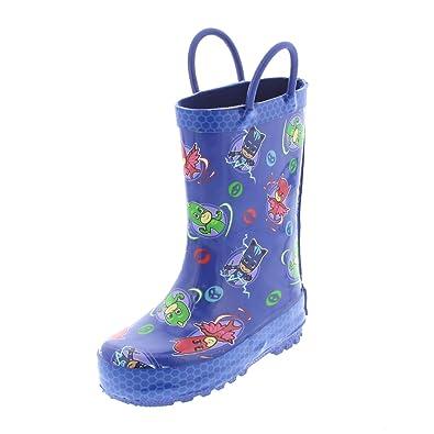PJ Masks Boys and Girls Rain Boots (5-6 M US Toddler, Blue
