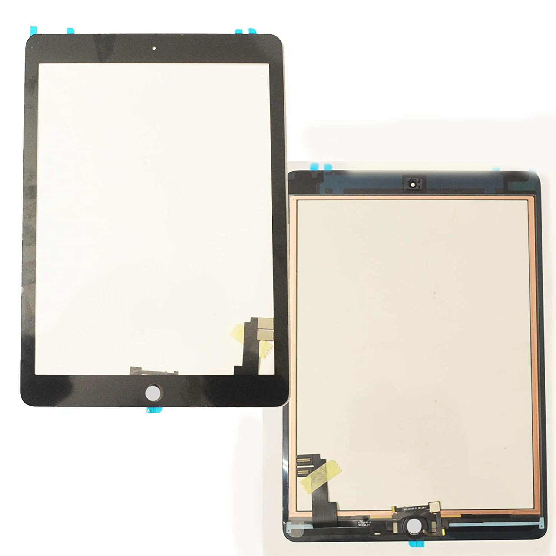 Fü r Ipad 6 Air 2 Digitizer Glas Touchscreen Display Front Scheibe schwarz selbstklebend A1566 A1567 Bucom 4260393995956