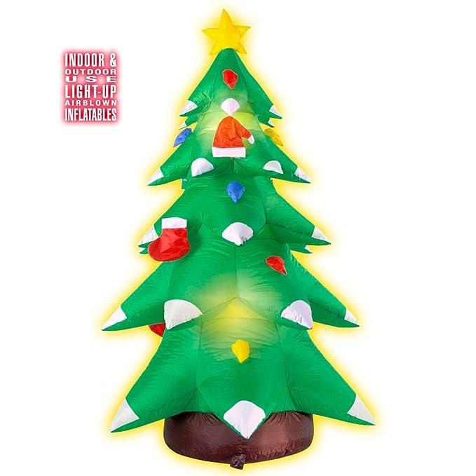 NET TOYS Árbol Inflable de Navidad Iluminado Brillante Pino ...