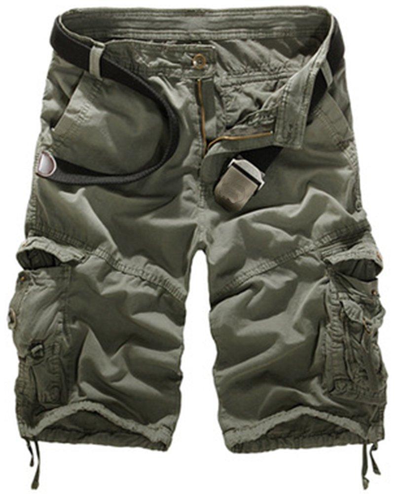 Mochoose Uomo Casual Camouflage Cotton Twill Cargo Shorts Pantaloncini Multi Tasche Estate Abbigliamento Outdoor Pantaloni
