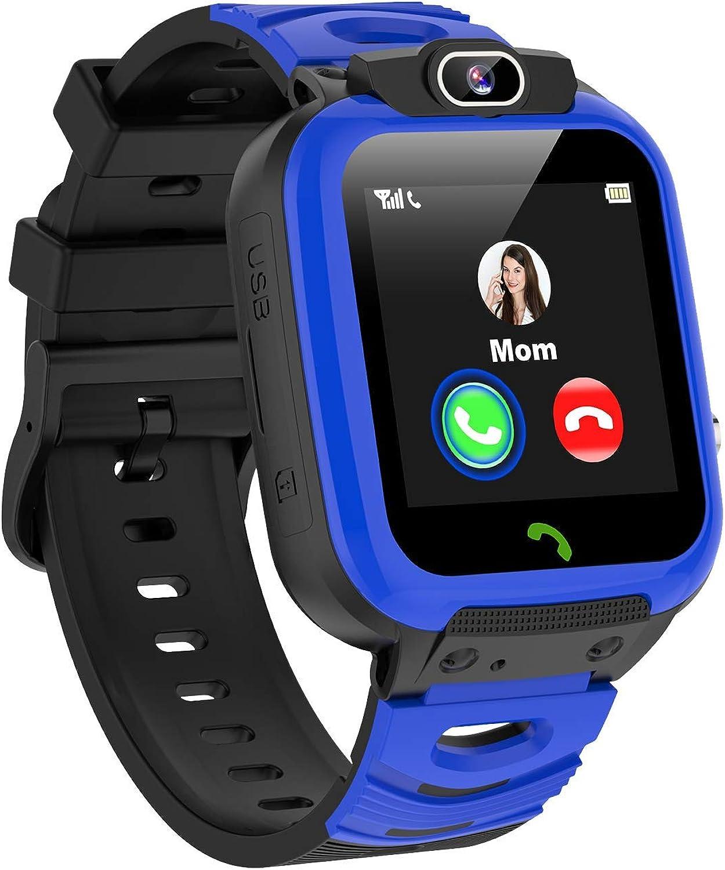 Smartwatch Niños, MP3 Música 14 Juegos Reloj Inteligente NiñoLlamada de Pantalla Táctil de 2 Vías SOS Vídeo Cámara Temporizador, Reloj Niños Niña, Soporta 4G/2G Nano SIM