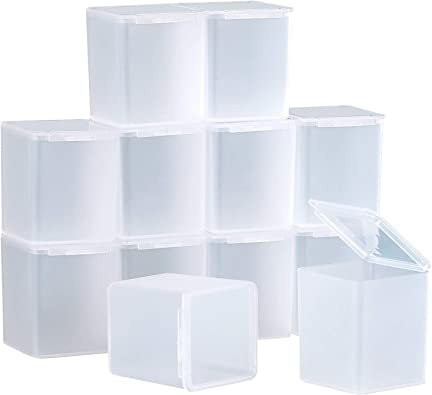 SATINIOR 12 Pack Caja Contenedor de Plástico Transparente con Tapa ...