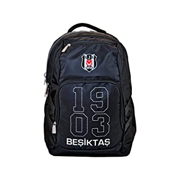 86d95c8e2c56c Hakan Çanta Beşiktaş Üç Bölmeli Siyah Beyaz Sırt Çantası 95136 ...