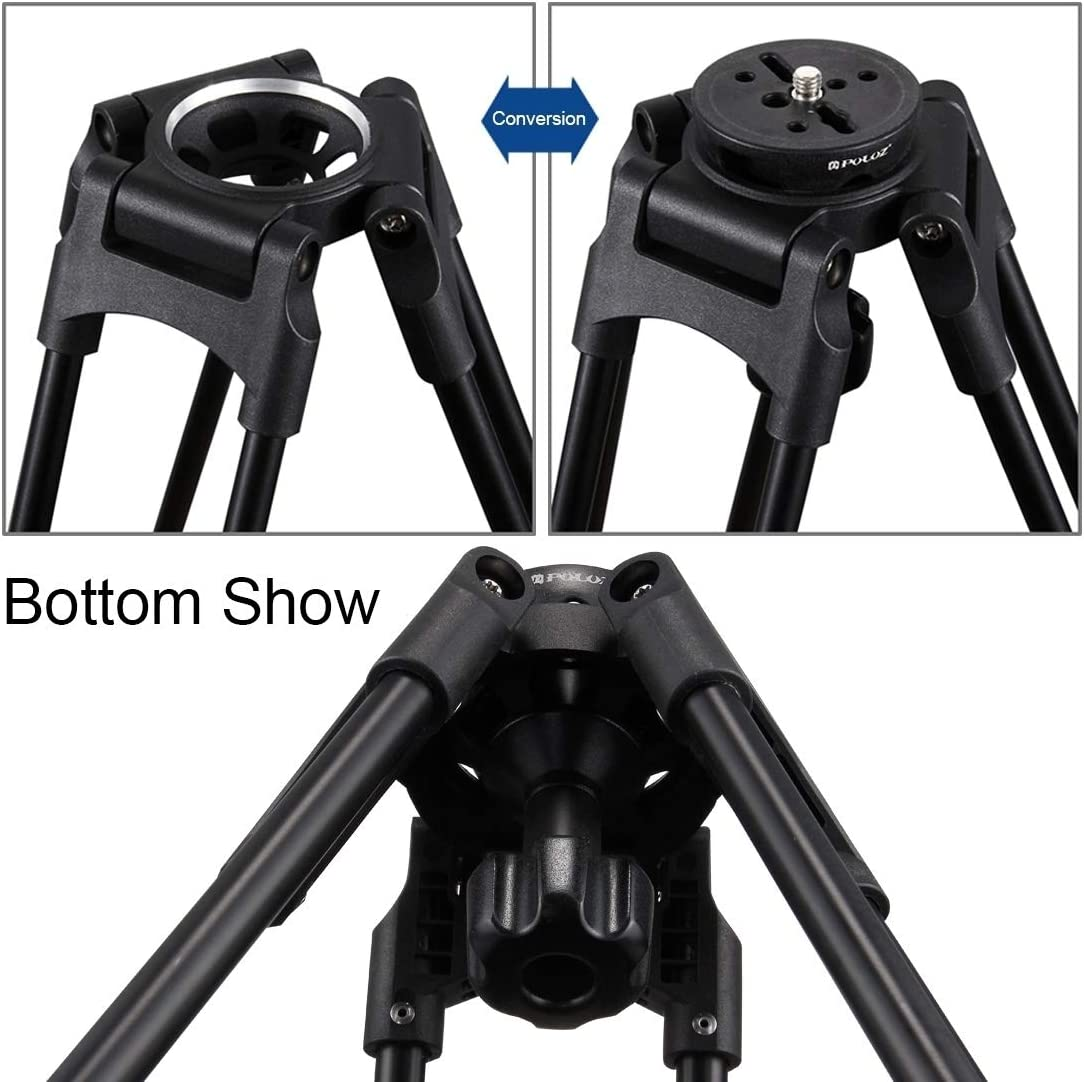 Metal Material MDYHMC AYSMG 75mm Half Ball Flat to Bowl Adapter for Fluid Head Tripod DSLR Rig Camera