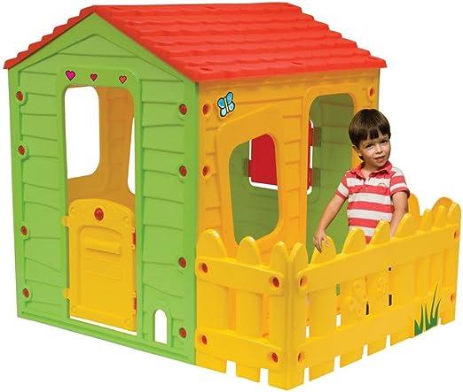 Casita Infantil en PVC Fermette - 1.18 x 1.46 x 1.27 m: Amazon.es: Jardín