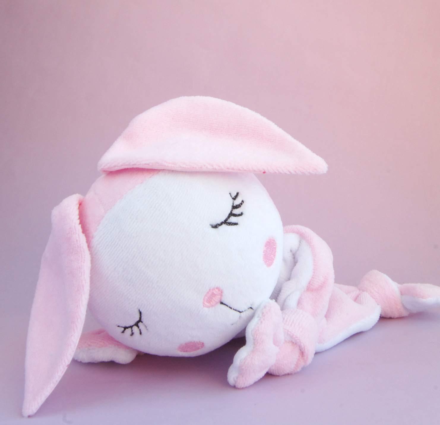 Easter Baby Bunny Girl Security Blanket Comforter Lovey Pink Animal Plush