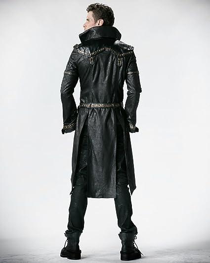 00a6bc973fbf Punk Rave Schwarz Shadow Jacket Herren Gothic Steampunk, Kunstleder,  Amazon .de  Bekleidung