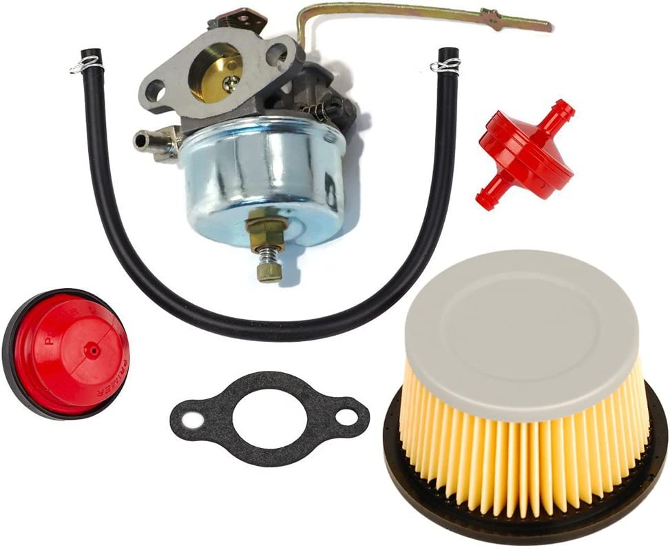 HIFROM Carburetor Carb kit Replacement for Tecumseh 631921 631070 631070A 631074 H25 H30 H35 H40 with Air Filter 30727 30604 John Deer AM30900 Cub Cadet 488619 488619-R1 Lesco 050113