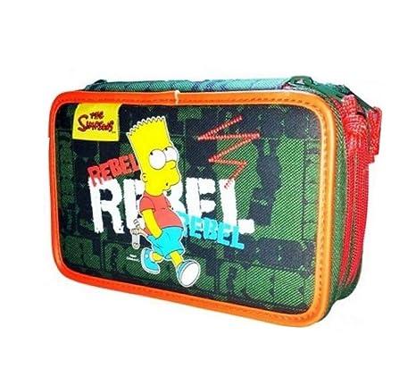 Estuche de 3 cremalleras Simpson Deporte: Amazon.es: Oficina ...