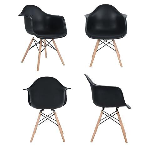 Ajie Inspire Daw Chaise Noir Lot De 4 Chaise Salle A Manger