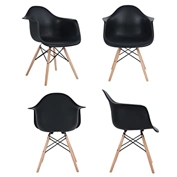 Eggree Inspire Scandinavie Chaise Noir Lot De 4 Chaise Salle A
