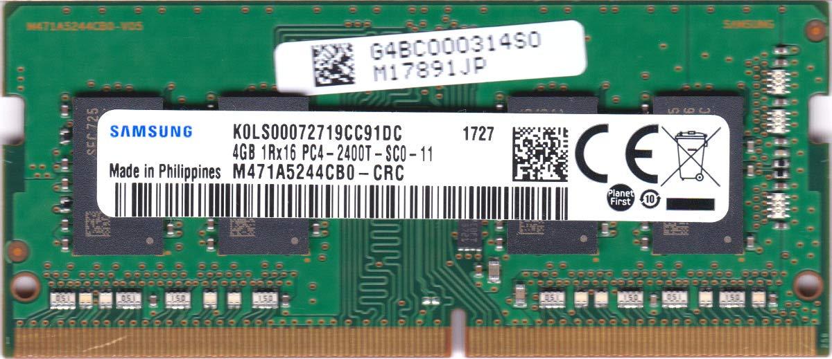 Samsung 4GB PC4-2400T RAM DDR4-2400MHz 260Pin SoDimm Memory M471A5244CB0-CRC