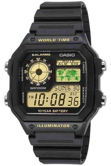 Casio Casio Collection AE-1200WH-1BVEF - Reloj digital de cuarzo para hombre ,
