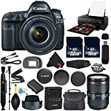 Canon EOS 5D Mark IV DSLR Camera with 24-105mm f/4L II Lens International Version (No Warranty) + Epson SureColor P800 Inkjet Printer + 16GB & 32GB SDHC Class 10 Memory Card + Carrying Case Bundle