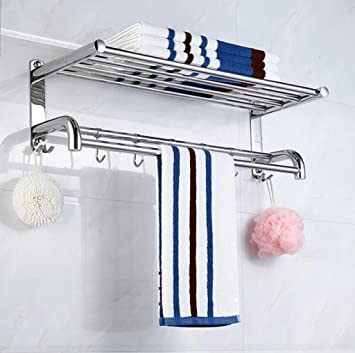 Longless acero inoxidable Baño Estante Baño Toallero Rack ...