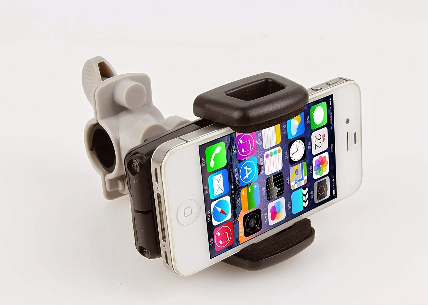 Boating GPS Rubber Strap IBRA Bike Phone Mount Bicycle Holder Other Devices,360 Degrees Rotatable Universal Cradle Clamp for iOS Android Smartphone IBRA® S093