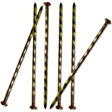MAOMBO 140 Pcs 6-Inch Landscape Stakes, Spiral Metal Galvanized Landscape Spikes, Garden Nails for Artificial Turf, Paver Edg