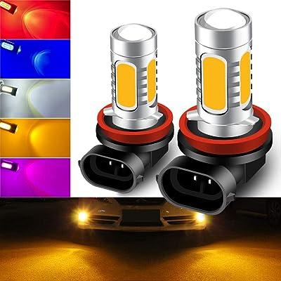 KaiDengZhe 2pcs SUPER Bright Amber 6500K H11/H8 LED Bulbs for Fog Lights 7.5W COB Fog Lamp Driving DRL Lights 12V: Automotive