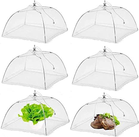 1 Pack Food Umbrella Cover Fly Mosquito Mesh Screen Net For Picnic BBQ Kitchen