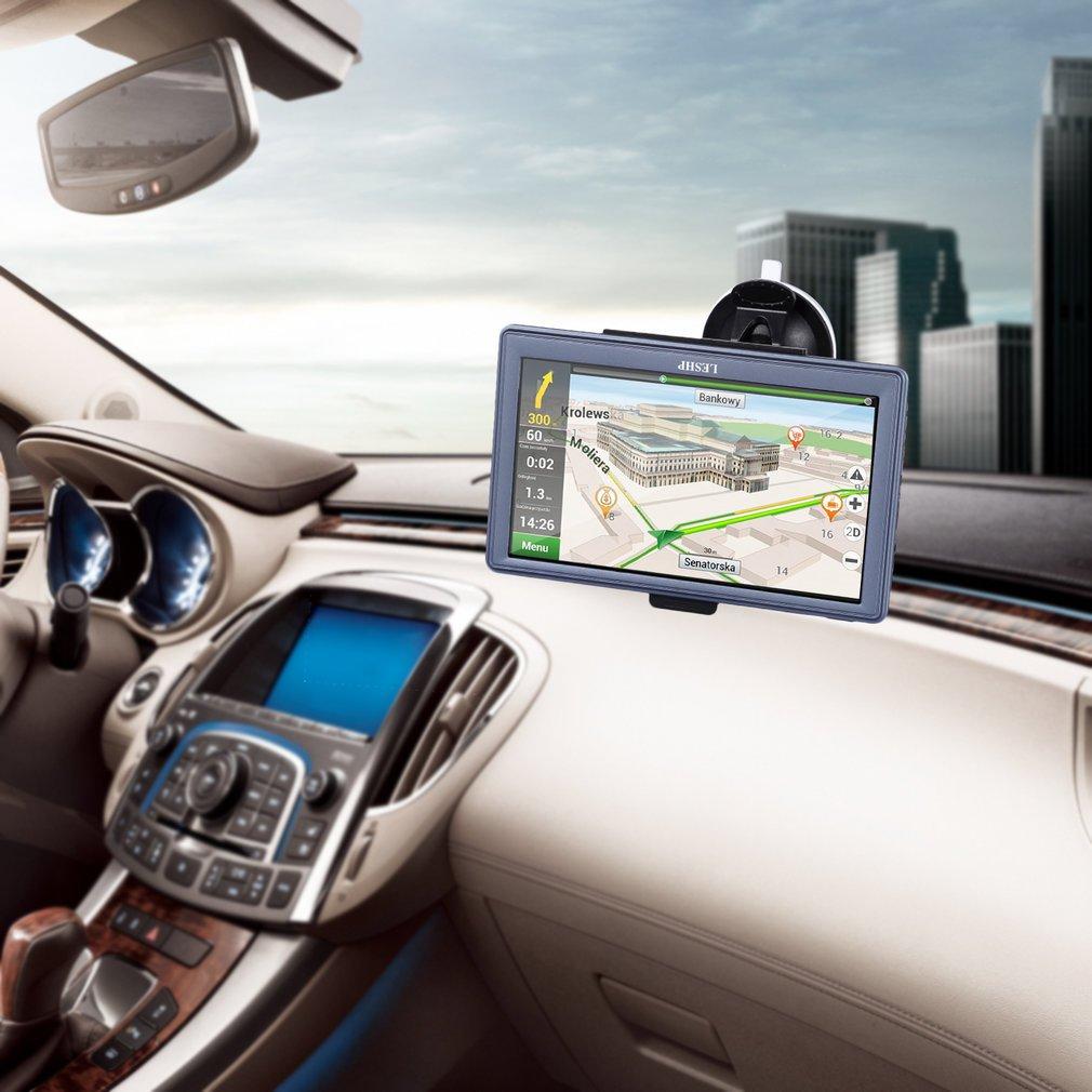 Europe 45 Pa/íses actualizaci/ón de mapa gratuita GPS coche leshp Auto cartograf/ía multi-lengua pantalla t/áctil 7 pies 17.8 cm