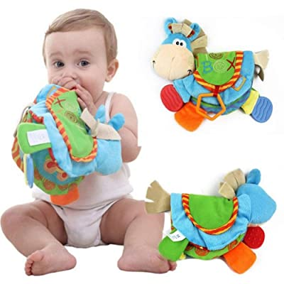 Anniston Kids Toys, Colorful Baby Kids Donkey Teether Cloth Book Toy Intelligence Early Learning Learning & Education Perfect Fun Time Play Activity Gift for Boys Girls: Toys & Games