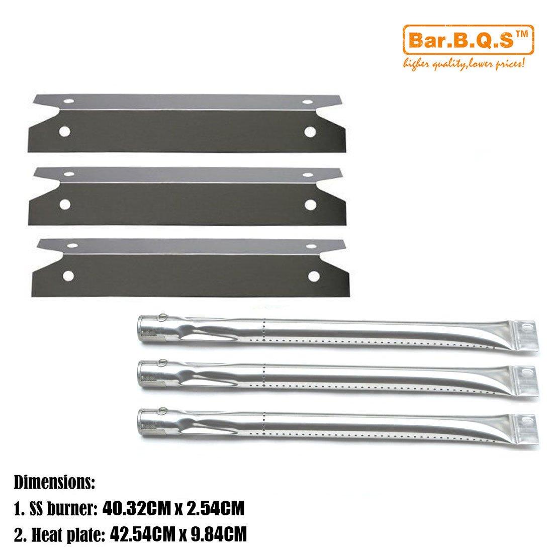 Bar.b.q.s Charmglow Gril à gaz de rechange Kit de pièces de gril à gaz 810-7400-S robuste (brûleur en acier inoxydable, plaque chauffante en acier inoxydable) 3 pièces
