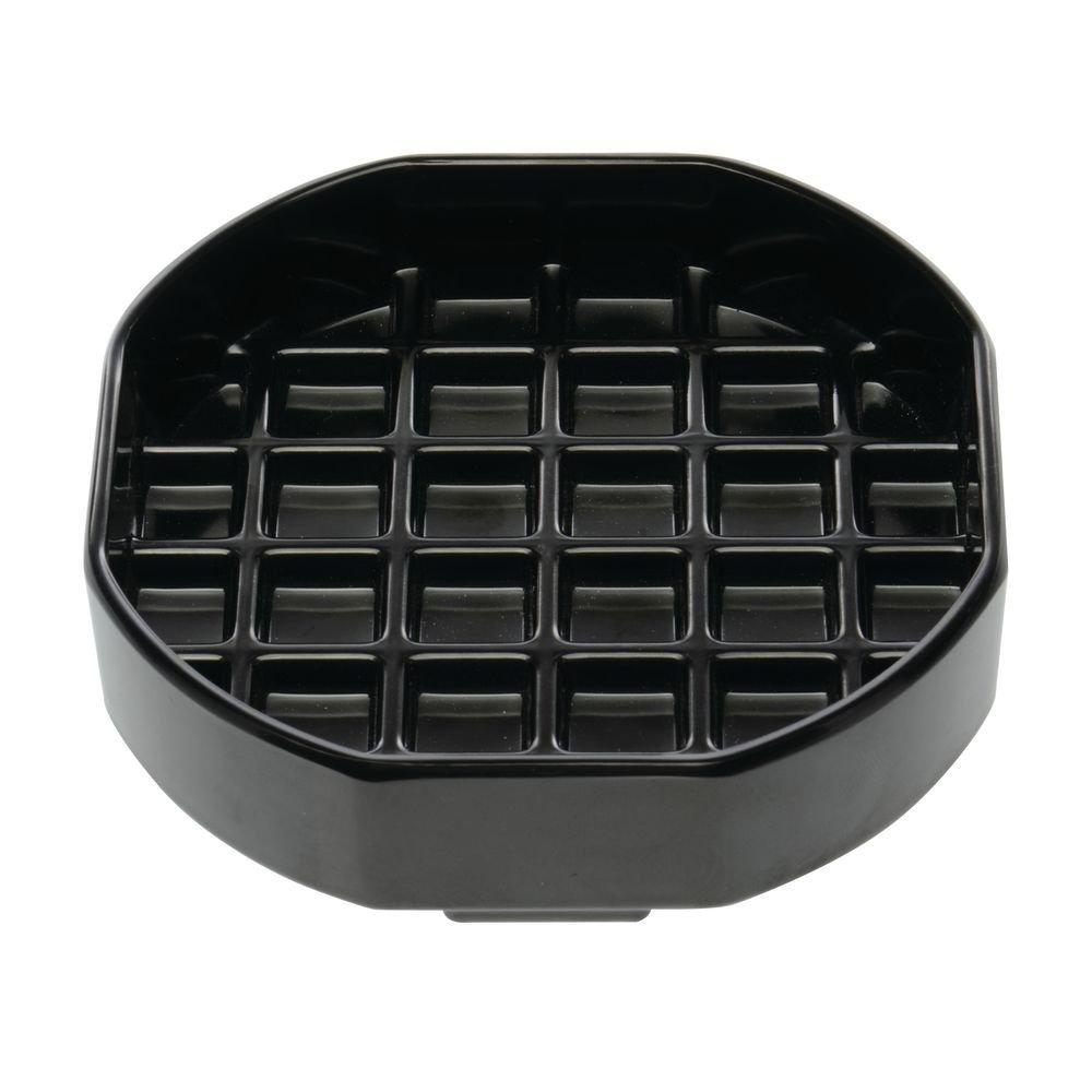 "HUBERT Beverage Drip Tray Black Octagonal Melamine - 4"" x 4"""