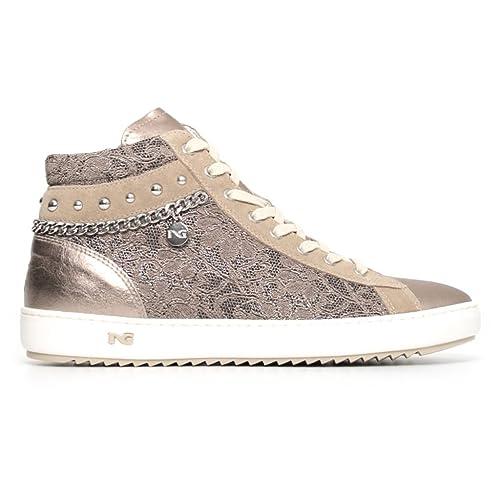 save off 4f1d1 f048c Nero Giardini donna sneakers bronzo P805082D scarpe primavera estate 2018 -  mainstreetblytheville.org
