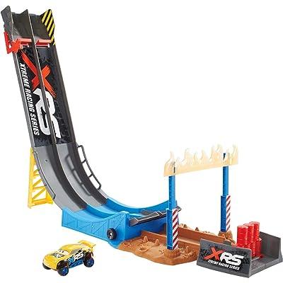 Disney Pixar Cars XRS Mud Racing Big Air Drop Playset: Toys & Games