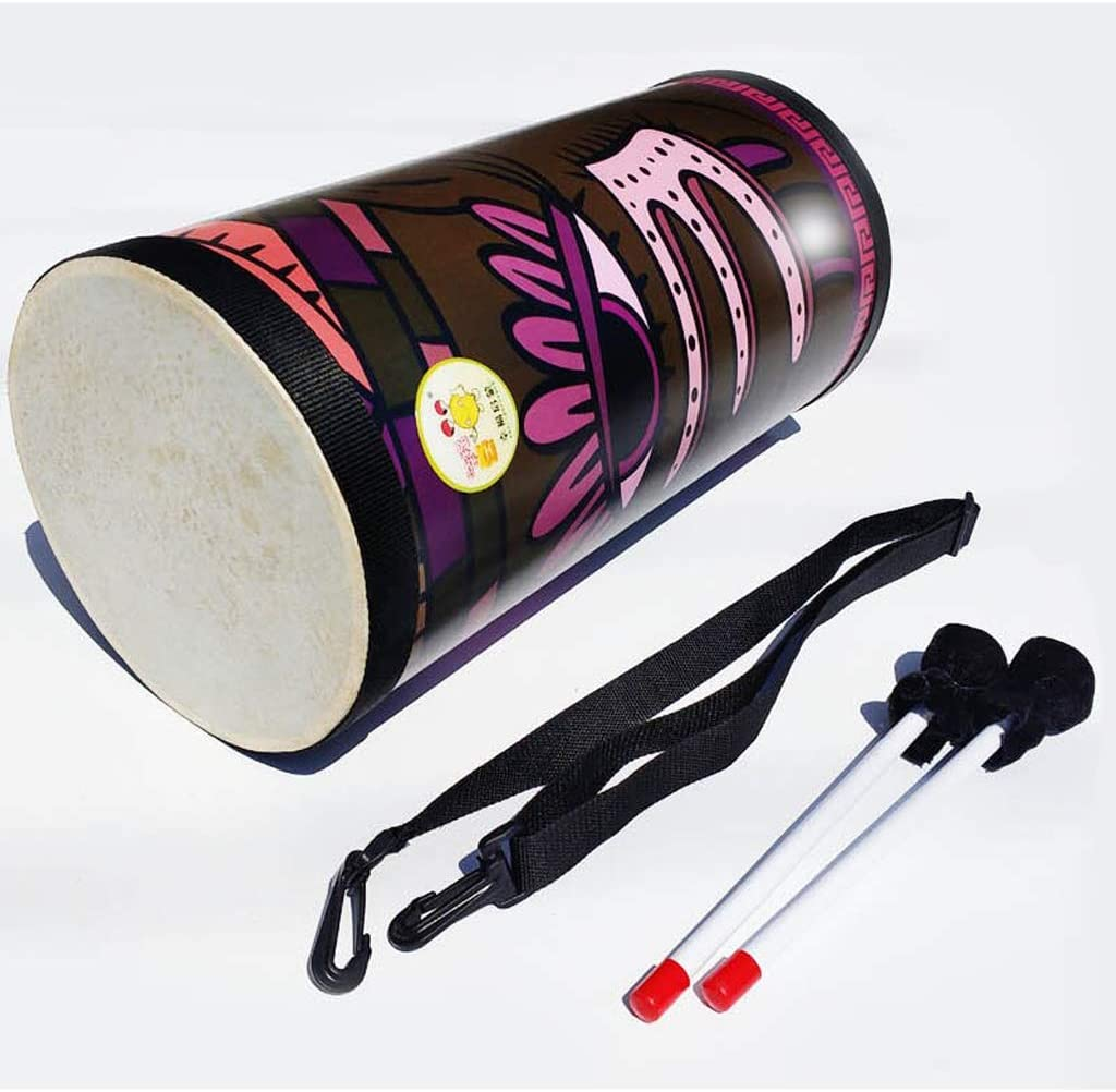 perfk 8 Inch Kids Wooden Bongo Djembe Hand Drum Percussion Instrument Musical Toy Gift